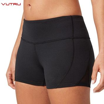Vutru Women Yoga Shorts High Waist Sport Tights Fitness Quick Dry Slim Compression Short Gym Running Workout Leggings Activewear