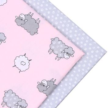 New Animal style 2pic/lot 40*50cm cotton fabric tecidos algodao para patchwork sewing baby bedding tissu DIY doll Cloth fabrics
