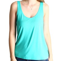 Light Green Piko Tank Top