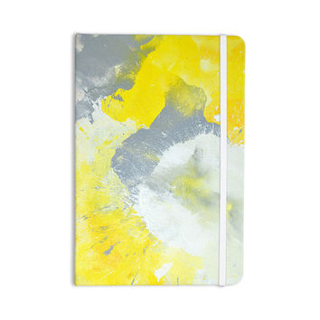 "CarolLynn Tice ""Make A Mess"" Yellow Gray Everything Notebook"