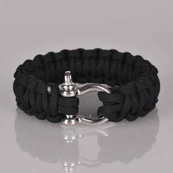 Outdoor Camping Paracord Bracelets For Men Women Parachute Rope Clasp Survival Bracelet Homme Handmade Braided Jewelry