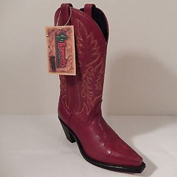 Laredo Red Cowhide Leather Cowboy Boots