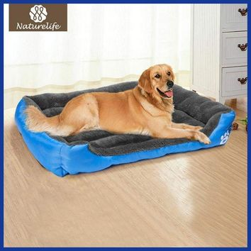 Pet Dog Bed Warming Soft Material Fall and Winter Warm Kennel For Cat Puppy Plus size.