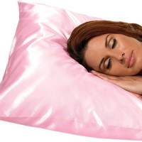 Betty Dain Satin Pillowcase, Pink (Pack of 2)