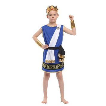 DCCKH6B kids Boys Ancient Greek mythology Zeus cosplay Fantasia Halloween Olympus God Costume Children King Carnival Masquerade Dress