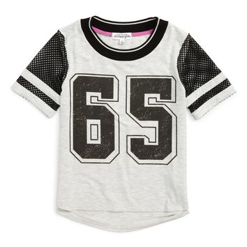 Ten Sixty Sherman Mesh Sleeve Graphic Tee (Big Girls) | Nordstrom
