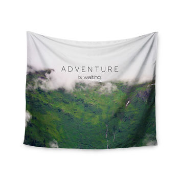 "Ann Barnes ""Adventure is Waiting"" Mountain Wall Tapestry"