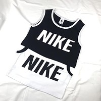 NIKE  Short Vest black and white