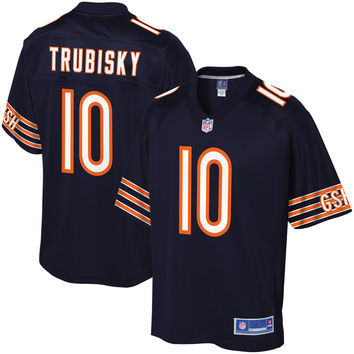 Men's Chicago Bears Mitchell Trubisky NFL Pro Line Navy Player Jersey