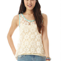 Lace Cut Out Tank
