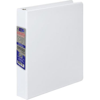 1 Inch 3 Ring Vinyl Binder - White