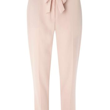 Blush Eyelet Tie Soft Trousers | Dorothyperkins