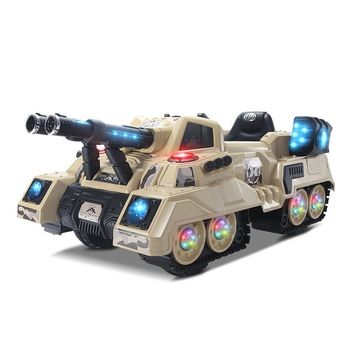 Super Big 2.4G Remote Control Kids Four-wheel Drive Electric Rechargeable Car Toy Shock Absorption Electric Tank Can Drive Sit