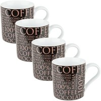 Konitz 100% Coffee Mugs in Black (Set of 4)