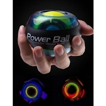 Fitness Exercise Gyro Wrist Exerciser Gyroscope Power Ball Gyro Power Ball LED Glow Wrist Ball Golf [9145124614]