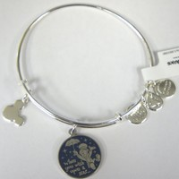 Disney Parks Alex and Ani Jiminy Cricket When You Wish Upon a Star Silver Bracelet