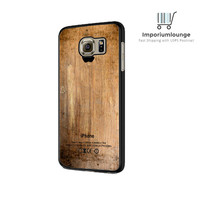 Grunge Wood Print Samsung Galaxy S6 Edge Case