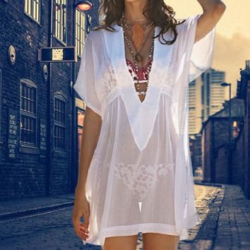 Transparent Beach Sunblock Smock