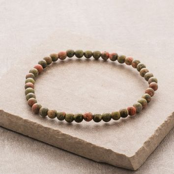 Unakite Mini Gemstone Energy Bracelet