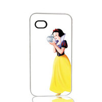 Snow White (White Background) iPhone 4 4s, iPhone 5 5s 5C, iPhone 6 6 Plus, IPOD 5G, Hardshell, Silicone, 2-in-1 Protective Case