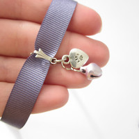 Cat KITTY KITTEN CHOKER collar necklace Cosplay Sweet Lolita Boho Kawaii Pastel Goth ddlg petplay kitten play cat lover cat paw heart charm