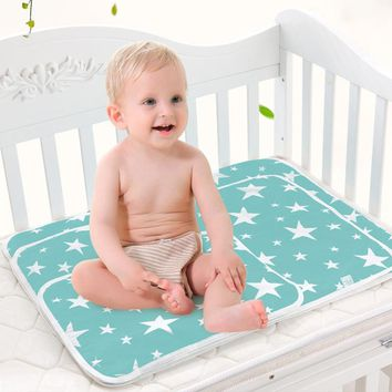 Baby Cute Waterproof Mattress Infants Portable Foldable Washable Changing Mat Children Game Floor Mats Cushion Reusable Diaper
