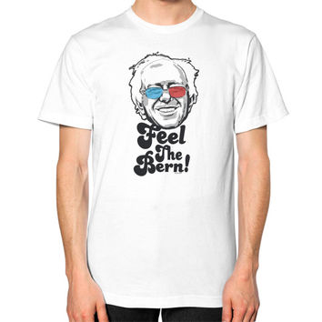 Bernie Sanders Pop Art Portrait  Unisex T-Shirt (on man)