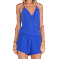 Alexis Palma Cross Over Romper in Royal