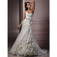 Gorgeous Sweetheart A-line Chapel Train bridal gowns style 0bg00636 - $541| weddingdressbee.com