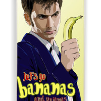 Doctor Who Lets Go Bananas for Iphone 4 / 4s Hard Cover Plastic