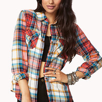 Grunge Girl Plaid Shirt