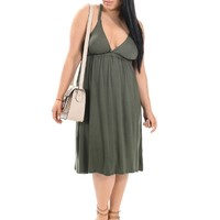 Green Festival Style Racerback Dress | $14.50 | Cheap Trendy Casual Dresses Chic Discount Fashion f