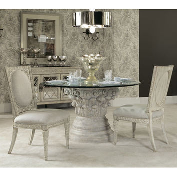 American Drew Jessica McClintock Boutique 4 Piece Round Dining Room Set