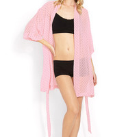 FOREVER 21 Sweet Dot Chiffon Robe