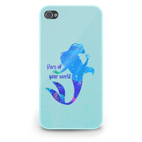 Ariel Quote Little Mermaid Disney - Hard Cover Case iPhone 5 4 4S 3 3GS HTC Samsung Galaxy Motorola Droid Blackberry LG Sony Xperia & more