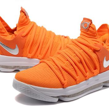 Nike Zoom KD 10 Orange Basketball Shoe