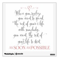 When Harry Met Sally Grey & Coral Wall Decal