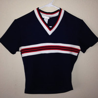 90s red tommy inspired crop top