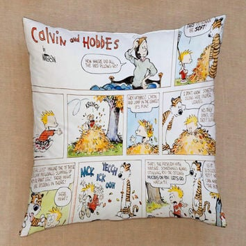 calvin and hobbes comic pillow Pillow Cover Custom  Square Pillow Cases