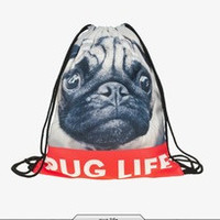 Pug Life Drawstring Backpack/Bag