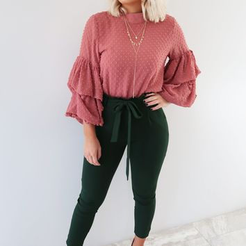 Endless Potential Blouse: Dusty Rose