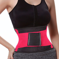 Hot Red Weight Loss Gym Workout Belt