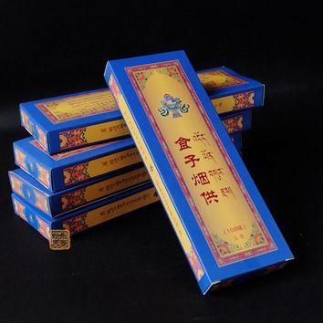 Religious Meditation Tibetan incense, Positive energy blessing, Bland aroma, Made from natural spices,Not easily broken