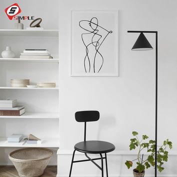 Black And White Nordic Poster Prints Abstract Wall Art Canvas Painting Antibes Photo Art Scandinavian Modern Home Decor No Frame
