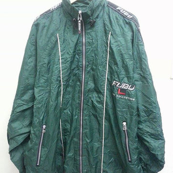 Vintage FUBU The Collections Windbreaker Hip Hop Pull Over Jacket