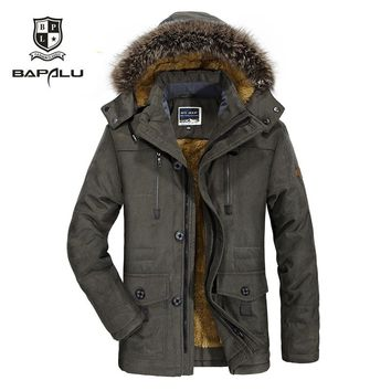 winter new jacket Men  Plus velvet thickening warm Windproof jacket men's casual hooded  jacket coat  size L-4XL 5XL 6XL  7176