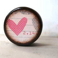 2/14 Valentine's Day  Powder Box by Mmim on Etsy