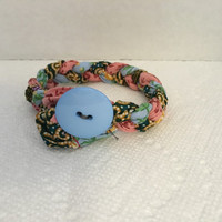 Multi-Colored Braided Rag Bracelet ~ Boho Chic Style ~ Birthday Gift Ideas ~ Mother's Day Gift ~ Grandmother's Surprise Gift