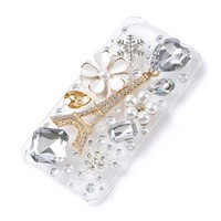 3D Eiffel Tower and Crystals iPhone 5 Cover  | Claire's