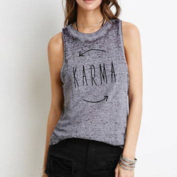 Karma Burnout Muscle Tee